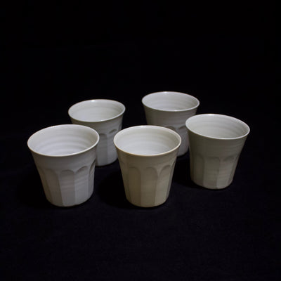 Faceted Tea Cup set of 5 #84