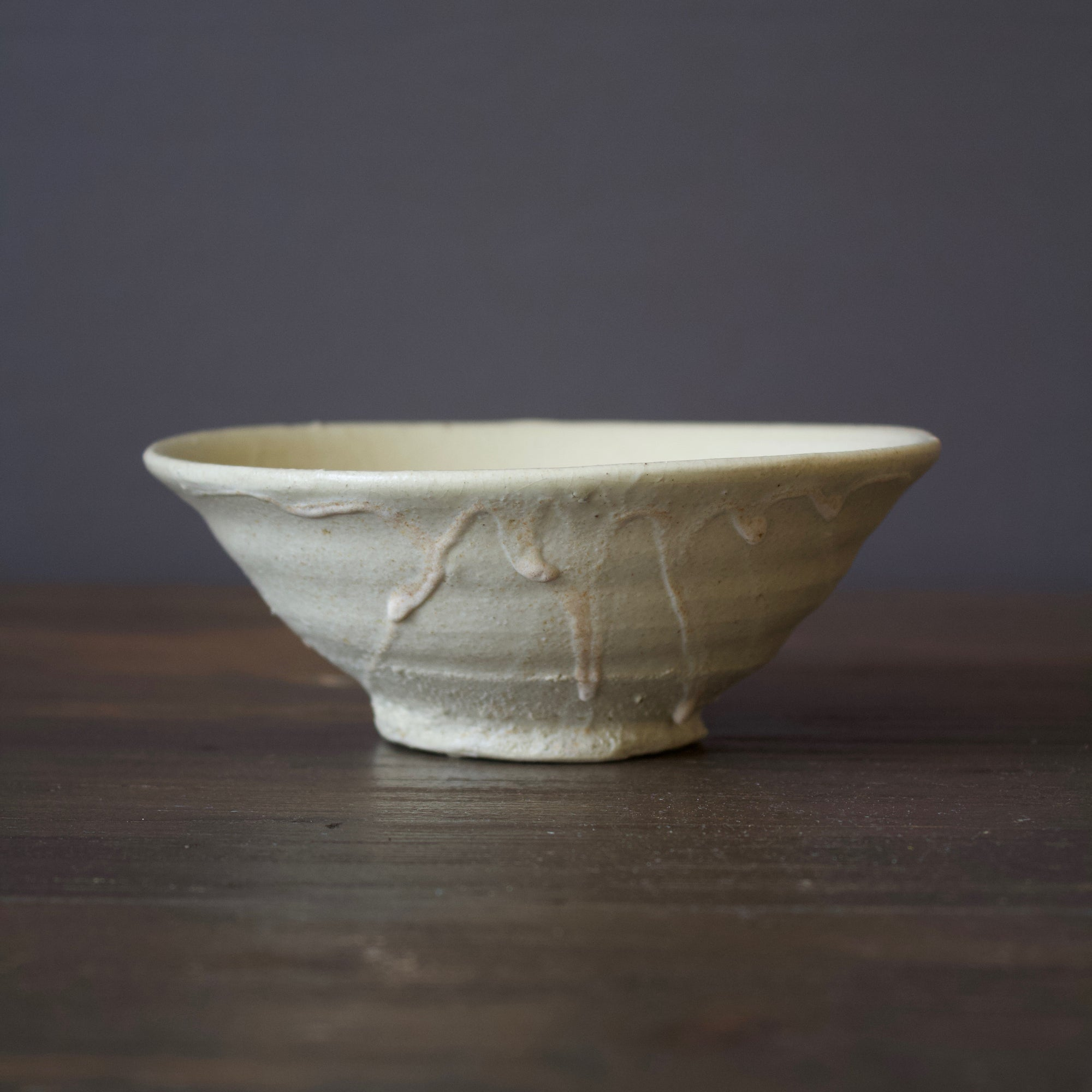 White Summer Tea Ceremony Bowl #78