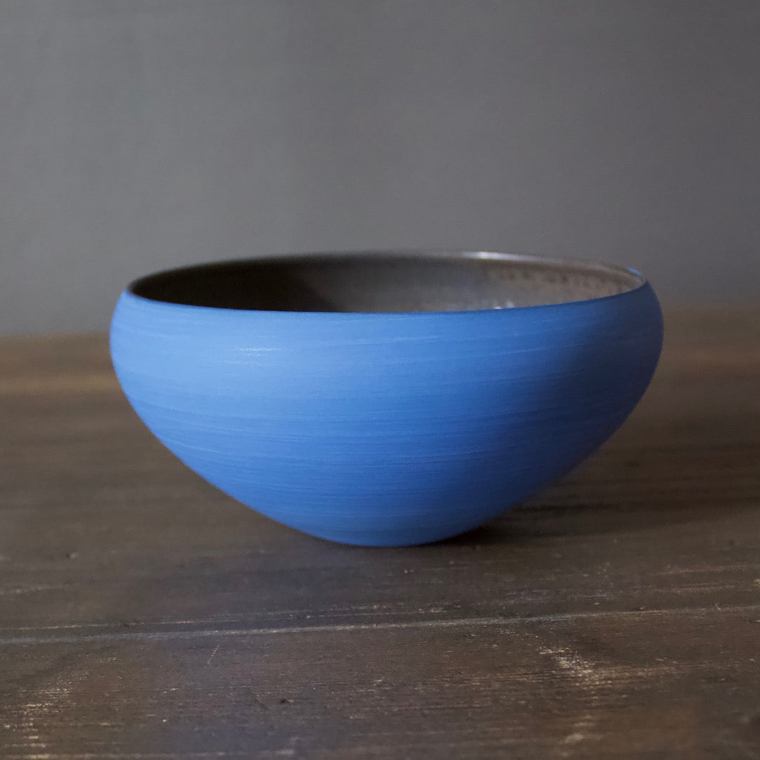 "Blue / Manganese ""Mother"" Bowl #YM33"