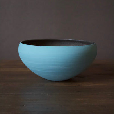 "Light Blue / Manganese ""Mother"" Bowl #YM35"