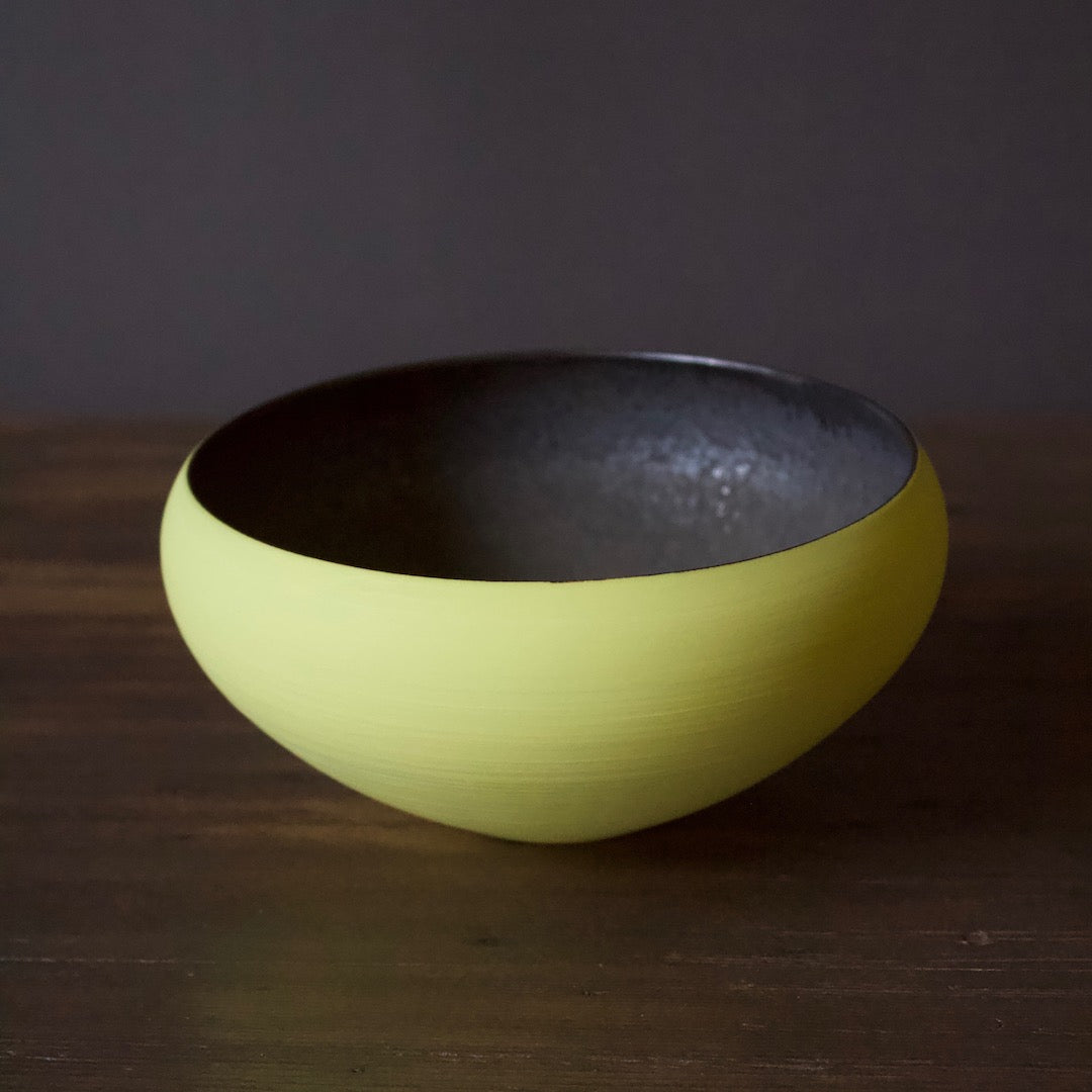 "Yellow / Manganese ""Mother"" Bowl #YM34"