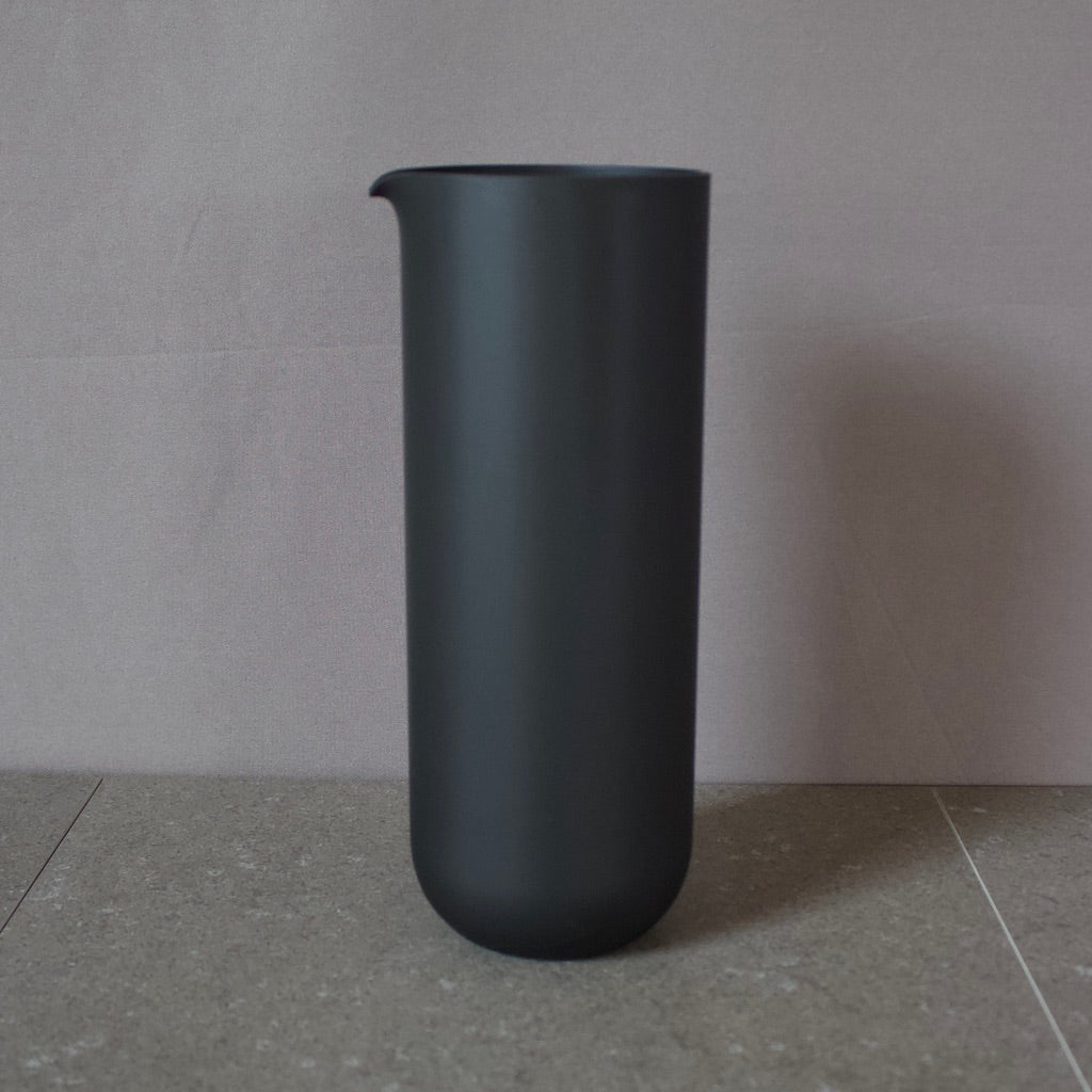 Matte Black Glass Water Pitcher #80FK