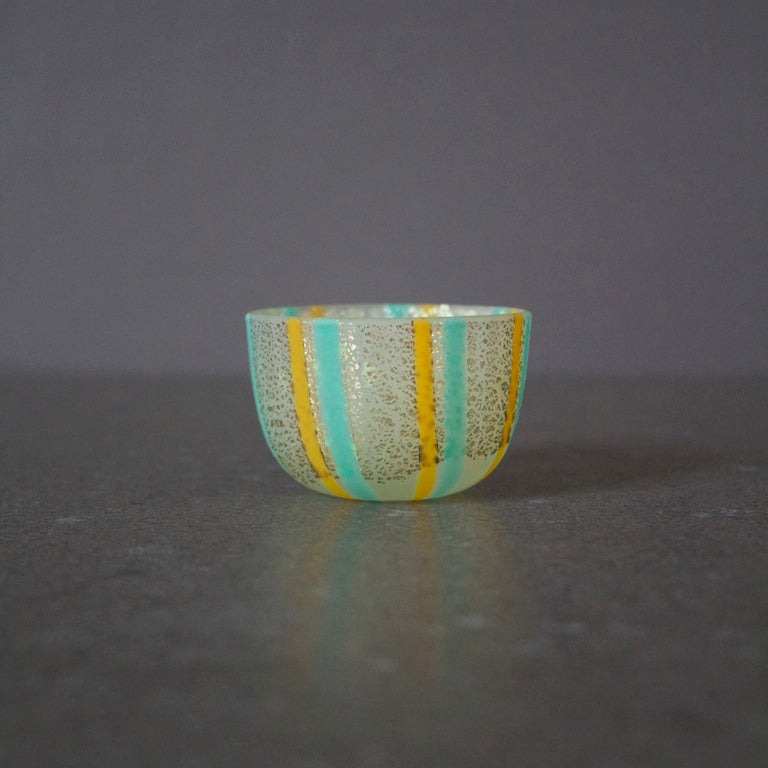 Glass Sake Cup w / Gold #MZ7074