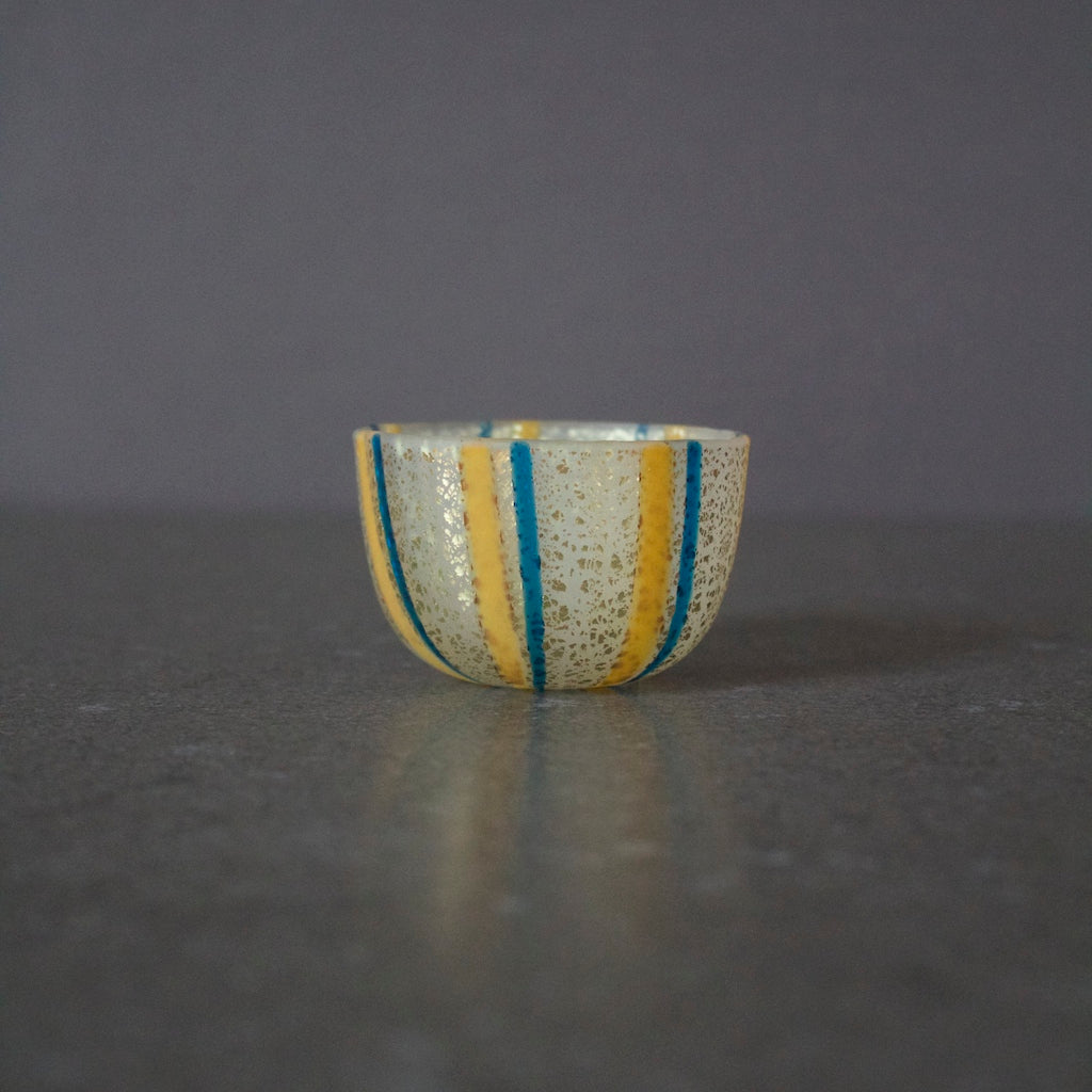 Glass Sake Cup w / Gold #MZ7075