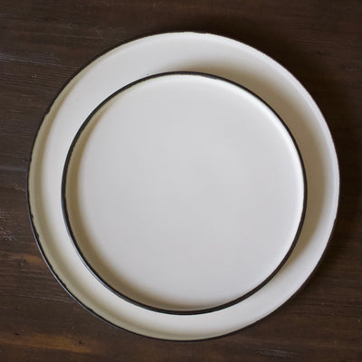 Rimed Edge White Salad Plate #8