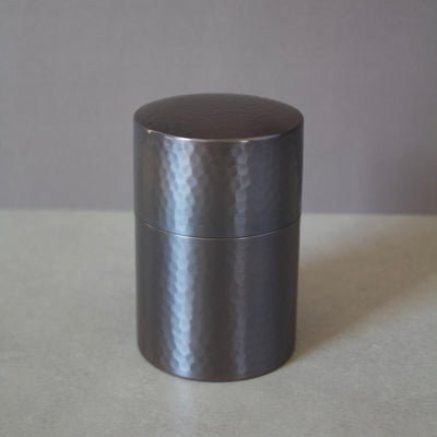 Copper Tea Leaf Container