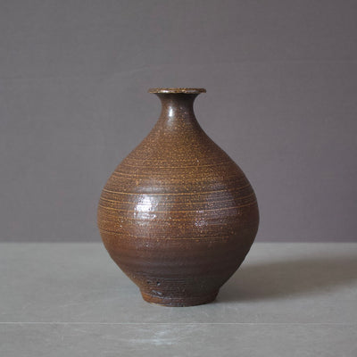 Brown Sake Bottle / Bud Vase #KZ524