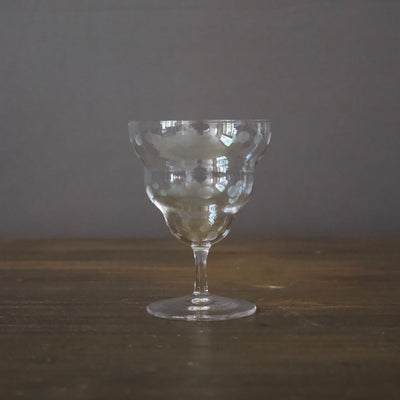 #1710 Crystal Stem Glass