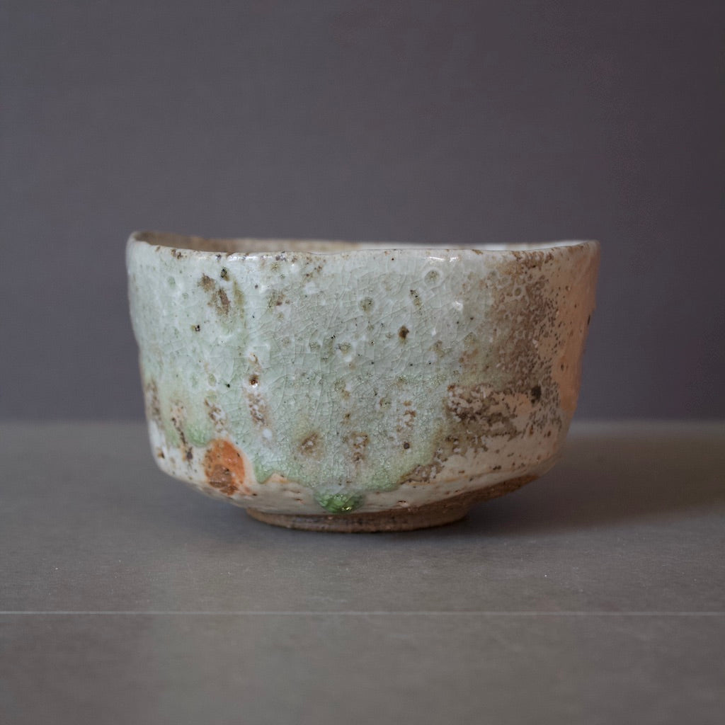 Shino / Natural Ash Tea Ceremony Bowl #FQ550A