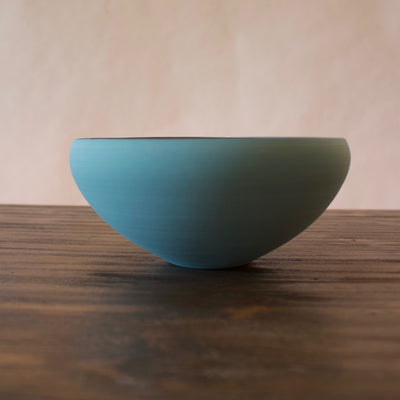 "Light Blue / Manganese ""Mother"" Bowl #YM35 by Yuji Murakami"