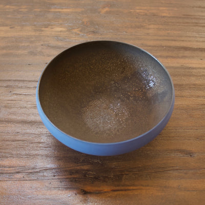 "Blue / Manganese ""Mother"" Bowl #YM33 by Yuji Murakami"