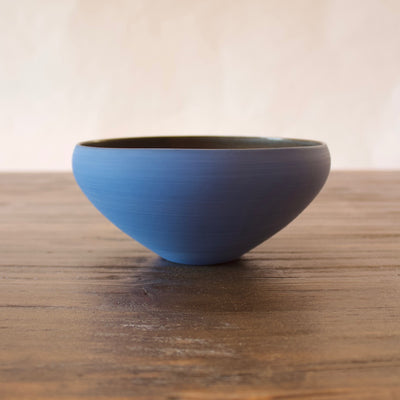 "Blue / Manganese ""Mother"" Bowl #3-3 by Yuji Murakami"