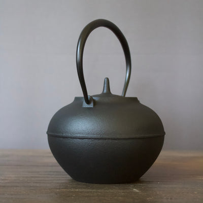 "Cast Iron Tea Pot ""Hoju"" Black #480-936"