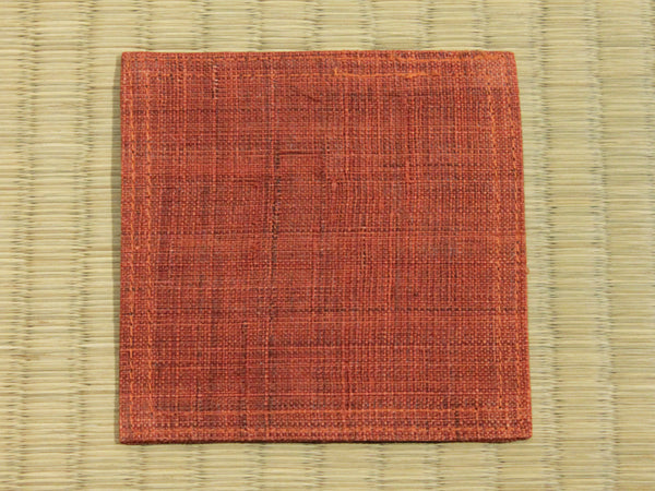 Linen Coaster       Rusty Orange