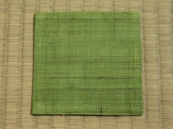 Linen Coaster        Leaf Green