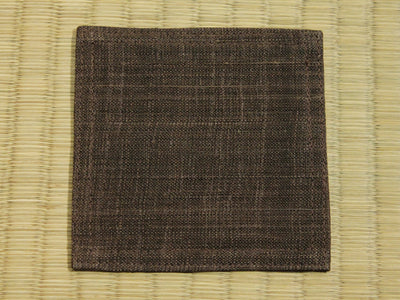 Linen Coaster    Chocolate Brown