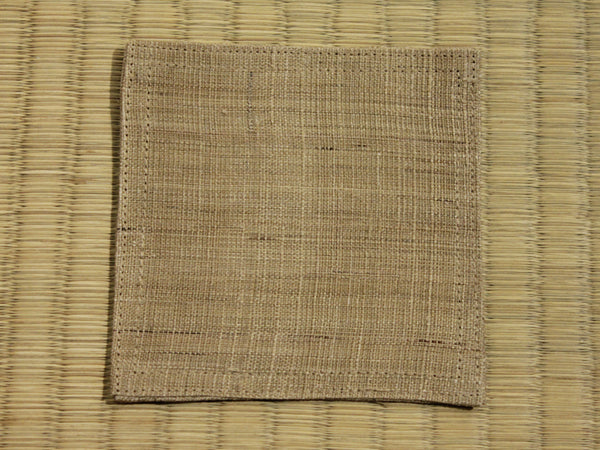 Linen Coaster           Sand Brown