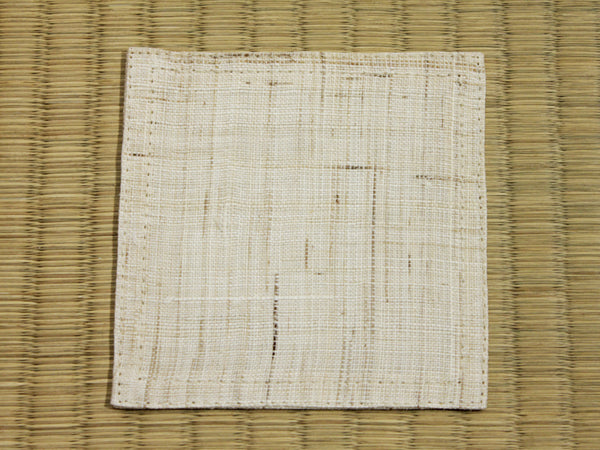 Linen Coaster         Natural White