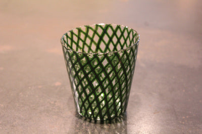 Reticello Godzilla Green Lace Tumbler #46G by Ushio Konishi