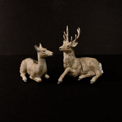 Pair of Deer Male and Female Box by Ruri Takeuchi