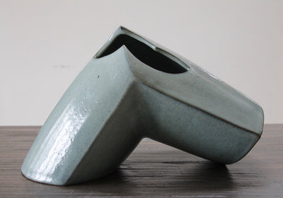 Chun Blue Angle Vase by Malcolm Wright