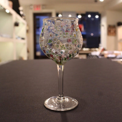 Murrini Flower Stem Glass #F4B by Fujiko Enami