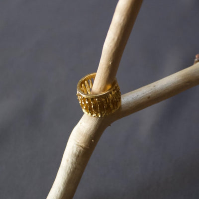 Tall Colonnade Ring Gold #8202 by Lana Kova
