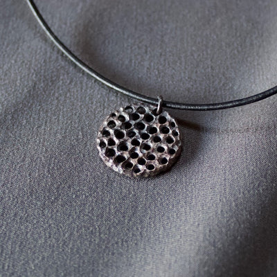 Medium Madallion Sterling Silver Pendant #8112 by Lana Kova