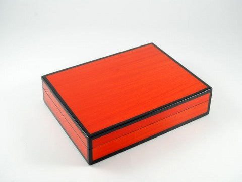 card Box Red Tulip Wood