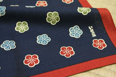 Plum Flower -Navy Blue