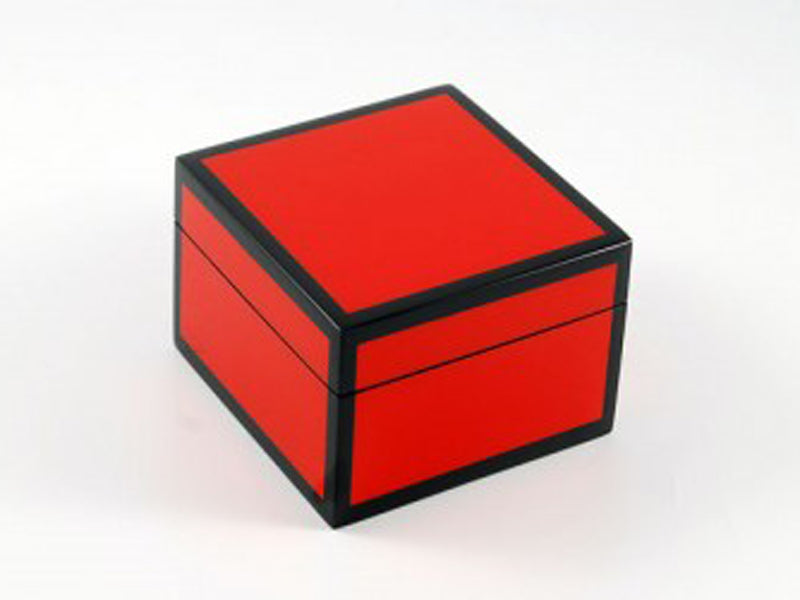 SQ Box Red Tulip Wood