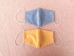 BLUE LINEN MASK - one for one!