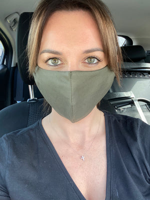 OLIVE LINEN MASK - one for one!