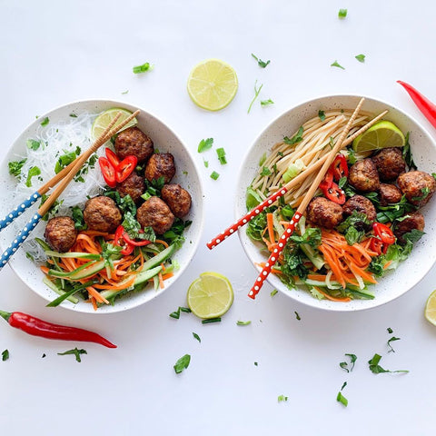 Meatball Noodle Bowl