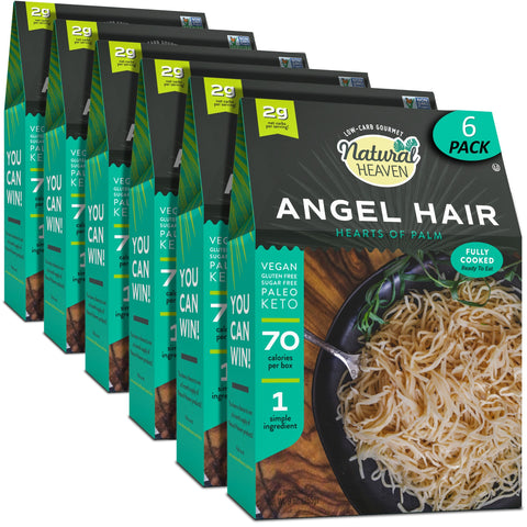 Angel Hair - Hearts of Palm Pasta - 4 or 6 Pack