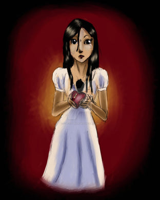 For you 8x10 art print horror girl taking heart out