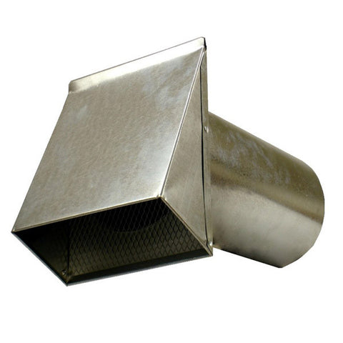 "6"" Fresh Air Intake - Galvanized (12/Ctn)"