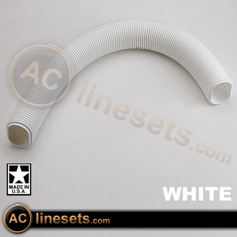 Fortress LF122W Flexible Elbow Lineset / Refrigerant Line Cover - 4.5""