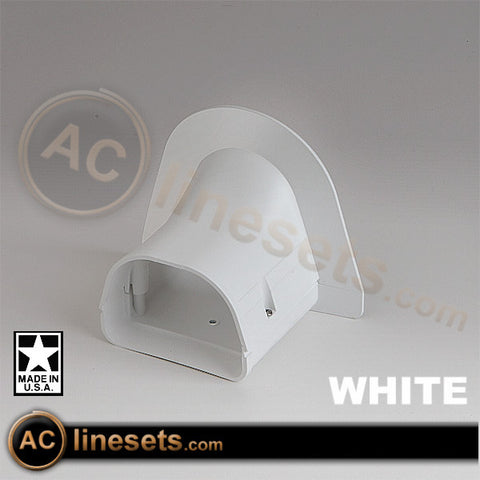Fortress LP92W Soffit Inlet Lineset / Refrigerant Line Cover - 3.5""