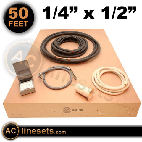 "Installation Kit For Ductless Mini Split Systems - 1/4"" x 1/2"" x 50'"