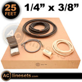 "Installation Kit For Ductless Mini Split Systems - 1/4"" x 3/8"" x 25'"