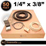 "Installation Kit For Ductless Mini Split Systems - 1/4"" x 3/8"" x 50'"