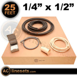 "Installation Kit For Ductless Mini Split Systems - 1/4"" x 1/2"" x 25'"