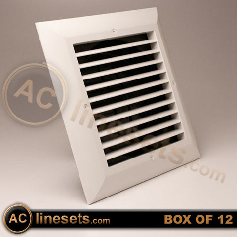 "GRDE 1 Way Low Clearance Exhaust Grille w/ Damper 8"" - Box of 12"