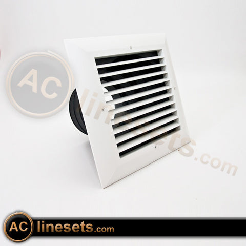 MVES Ceiling Diffuser w/ 1 Way Exhaust Grille, Damper, Box - 4, 5, 6""