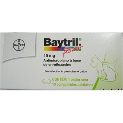 Medicamento Baytril Flavour 15mg Bayer