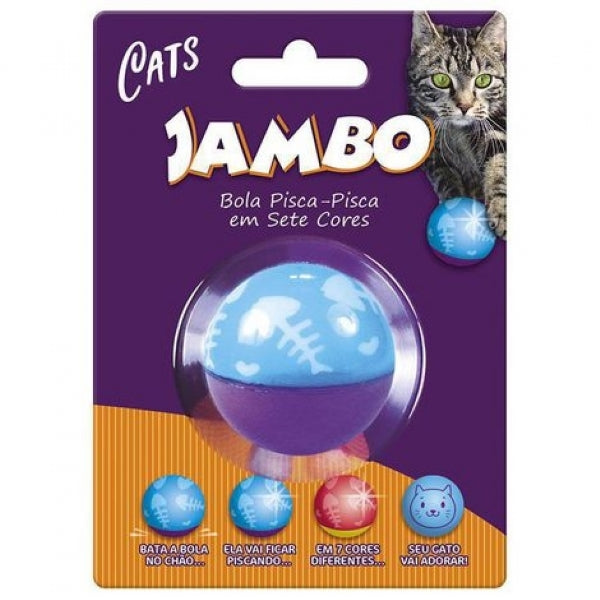 Brinquedo Jambo Bola Flashing Cat Wobbler