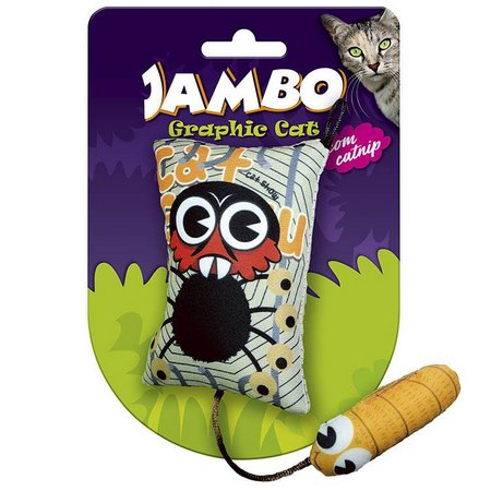Brinquedo Jambo Graphic Cat Space Monkey com Catnip