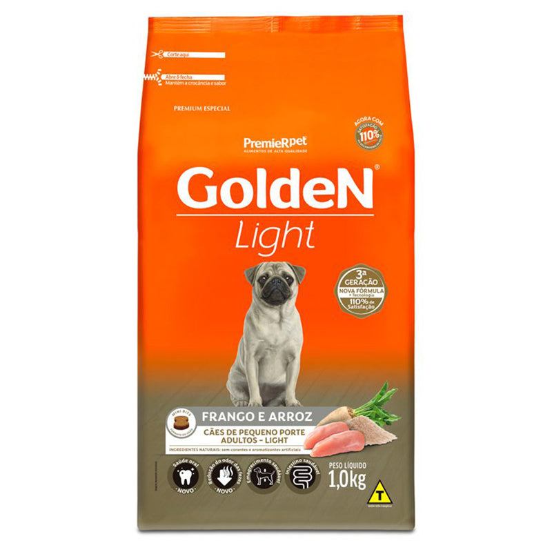 Ração Golden Fórmula Cães Adultos Mini Bits Light Frango e Arroz 1kg