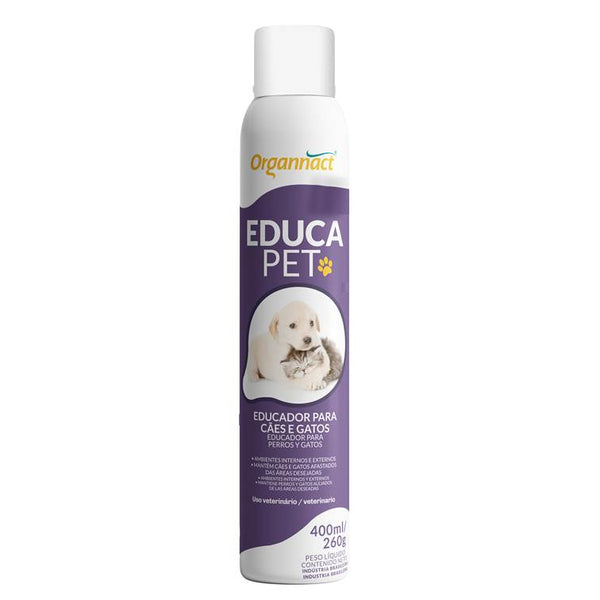 Educa Pet Educador Cães e Gatos Organnact Aerossol 400ml